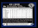 2003 Topps #507  Joe Crede  Back Thumbnail