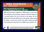 2003 Topps #264  Mike Hargrove  Back Thumbnail