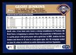 2003 Topps #435  Geoff Jenkins  Back Thumbnail