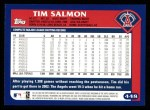 2003 Topps #448  Tim Salmon  Back Thumbnail