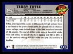2003 Topps #310   -  Terry Tiffee First Year Back Thumbnail