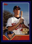 2003 Topps #310   -  Terry Tiffee First Year Front Thumbnail