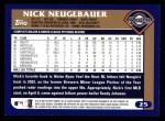 2003 Topps #25  Nick Neugebauer  Back Thumbnail