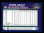 2003 Topps #581  Mark Grace  Back Thumbnail