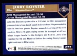 2003 Topps #277  Jerry Royster  Back Thumbnail