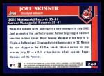 2003 Topps #269  Joel Skinner  Back Thumbnail