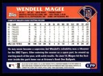 2003 Topps #179  Wendell Magee  Back Thumbnail