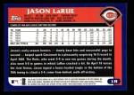 2003 Topps #18  Jason LaRue  Back Thumbnail