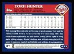 2003 Topps #433  Torii Hunter  Back Thumbnail