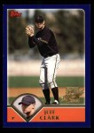 2003 Topps #315   -  Jeff Clark First Year Front Thumbnail