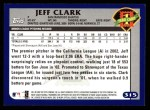 2003 Topps #315   -  Jeff Clark First Year Back Thumbnail