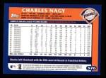 2003 Topps #376  Charles Nagy  Back Thumbnail