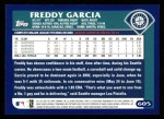2003 Topps #605  Freddy Garcia  Back Thumbnail