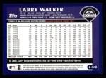 2003 Topps #140  Larry Walker  Back Thumbnail