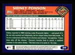 2003 Topps #39  Sidney Ponson  Back Thumbnail