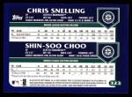 2003 Topps #323   -  Chris Snelling / Shin-Soo Choo Future Stars Back Thumbnail
