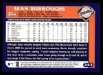 2003 Topps #243  Sean Burroughs  Back Thumbnail