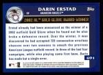 2003 Topps #691   -  Darin Erstad Award Winners Back Thumbnail