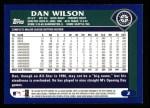 2003 Topps #2  Dan Wilson  Back Thumbnail