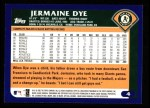 2003 Topps #4  Jermaine Dye  Back Thumbnail