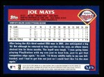 2003 Topps #525  Joe Mays  Back Thumbnail