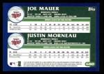 2003 Topps #680  Joe Mauer / Justin Morneau  Back Thumbnail