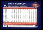 2003 Topps #216  Todd Hundley  Back Thumbnail