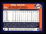 2003 Topps #202  Phil Nevin  Back Thumbnail