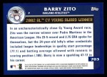 2003 Topps #703   -  Barry Zito Award Winners Back Thumbnail