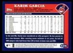 2003 Topps #626  Karim Garcia  Back Thumbnail