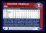 2003 Topps #260  Vicente Padilla  Back Thumbnail