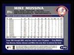 2003 Topps #190  Mike Mussina  Back Thumbnail