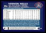 2003 Topps #164  Vernon Wells  Back Thumbnail