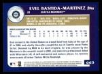 2003 Topps #663  Evel Bastida-Martinez  Back Thumbnail