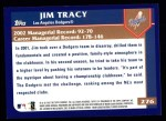 2003 Topps #276  Jim Tracy  Back Thumbnail