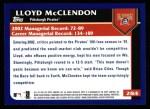2003 Topps #284  Lloyd McClendon  Back Thumbnail