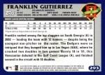 2003 Topps #293   -  Franklin Gutierrez First Year Back Thumbnail