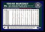 2003 Topps #159  Edgar Martinez  Back Thumbnail