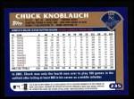 2003 Topps #235  Chuck Knoblauch  Back Thumbnail