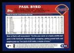 2003 Topps #436  Paul Byrd  Back Thumbnail