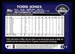 2003 Topps #213  Todd Jones  Back Thumbnail