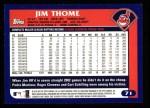2003 Topps #71  Jim Thome  Back Thumbnail
