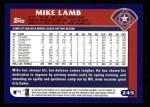 2003 Topps #245  Mike Lamb  Back Thumbnail
