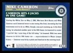 2003 Topps #332   -  Mike Cameron Season Highlights Back Thumbnail