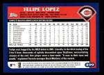 2003 Topps #499  Felipe Lopez  Back Thumbnail