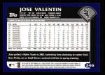 2003 Topps #246  Jose Valentin  Back Thumbnail