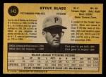 1971 O-Pee-Chee #143  Steve Blass  Back Thumbnail