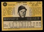 1971 O-Pee-Chee #203  Larry Gura  Back Thumbnail