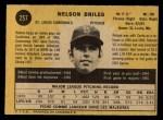 1971 O-Pee-Chee #257  Nelson Briles  Back Thumbnail