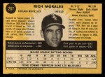 1971 O-Pee-Chee #267  Rich Morales  Back Thumbnail